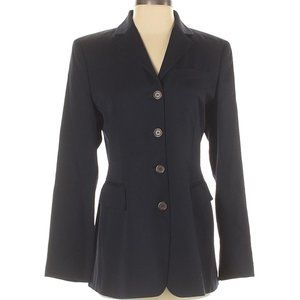 ann taylor navy blue wool jacket blazer 4
